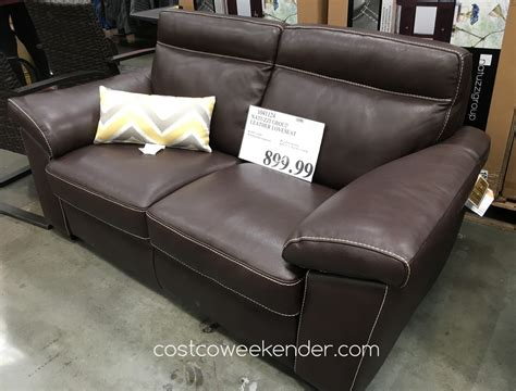 costco sofas and loveseats natuzzi group leather loveseat costco weekender