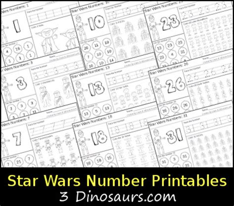 printable star numbers star wars themed number printables 3 dinosaurs
