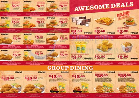 Where Can You Find Day Discounts After Lunch by Popeyes Dine In Discount Coupons 21 Aug 27 Sep 2015