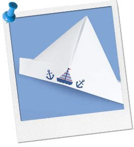 Fold A Paper Hat - nautical ideas sailing craft paper sailor