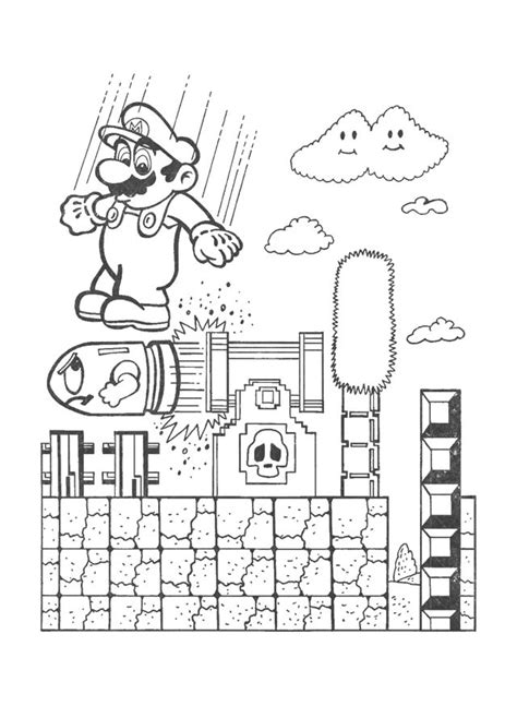 Oceanseven Mario Bros Sketch Painting 8 Tx 88 best images about smash brothers coloring pages on coloring mario bros and