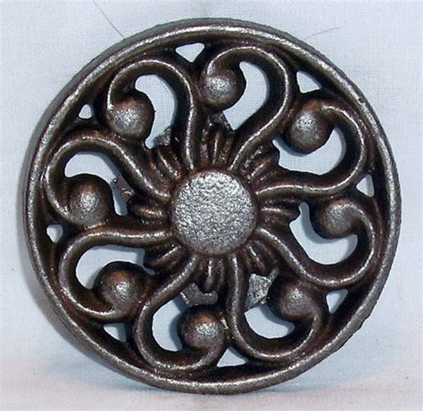 drapery medallions metropolis iron s large drapery medallions metro iron