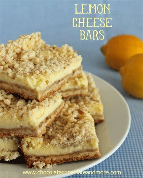 Lemon Bars With Crumb Topping by Lemon Cheese Bars Chocolate Chocolate And More