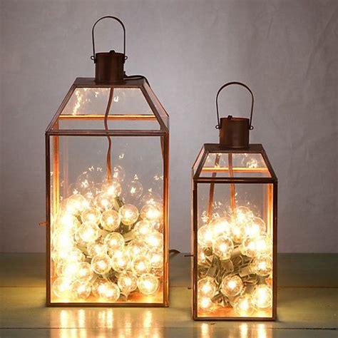 copper mansard lantern copper string lights and good ideas