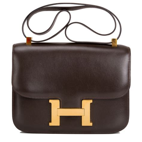 Hermes Contansce Box Semi Premium hermes vintage constance bag 23cm chocolate box gold hardware world s best