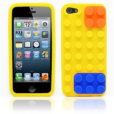 Soft Iphone 44s55s66s66s Sam 3d building blocks lego brick soft silicone stand cover for iphone 5s 5 ebay