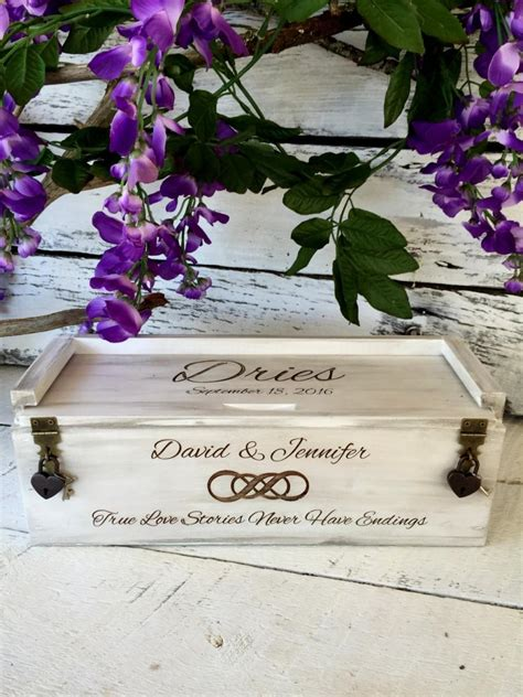 Wedding Wine Box Time Capsule by Wine Box Infinity Knot Wedding Wine Box Wine Box