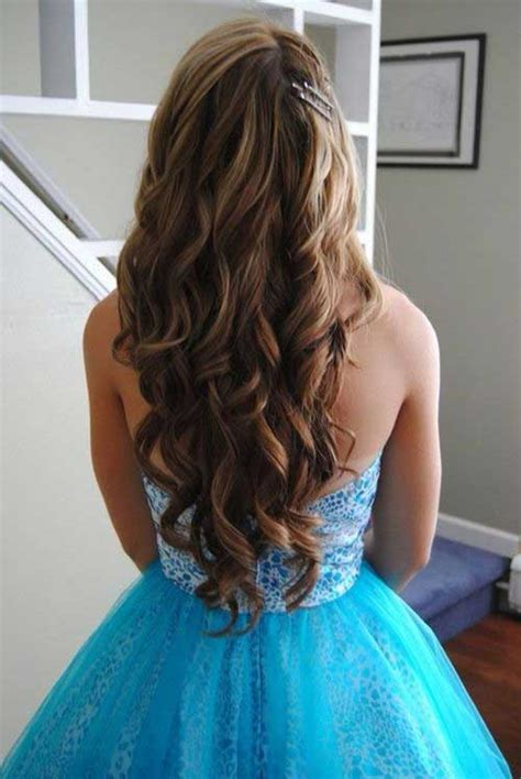 pageant style curling long hair 30 best prom hairstyles for long curly hair long