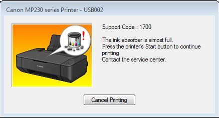 reset mp237 error 1700 keterangan tersebut menyatakan agar printer dimatikan dan