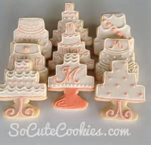 wedding cake cookies so cute cookies