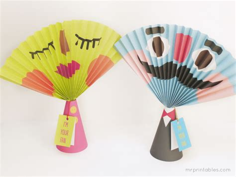 printable paper fans 6 best images of printable summer crafts all about me