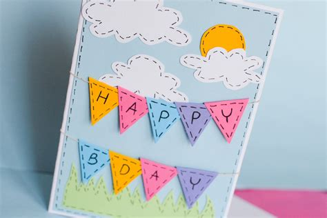 How To Make A Paper Birthday Card - how to make greeting birthday card step by step