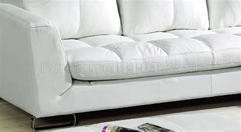 thick leather sofa ivory full thick leather modern sectional sofa w curved legs