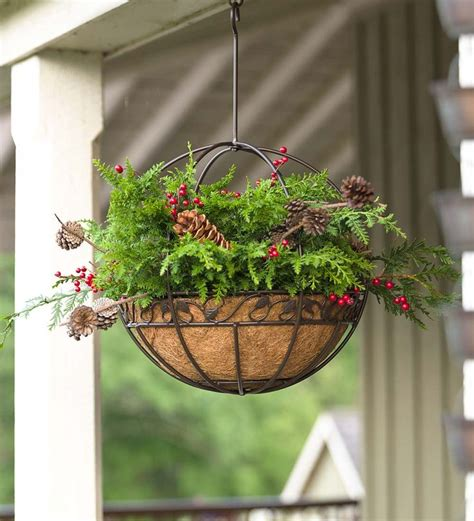 Hanging Deck Planters by Metal Hanging Planter Deck Easy Outdoor