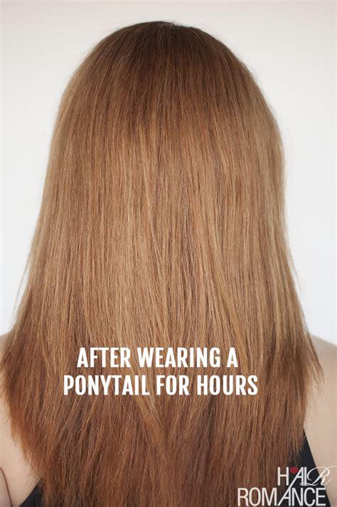 avoid  ponytail dent hair romance