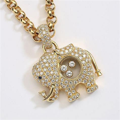 Chopard C 1905 chopard a necklace and pendant quot happy elephant quot in