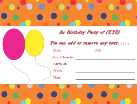 birthday invites template birthday invitation templates to print custom invitations