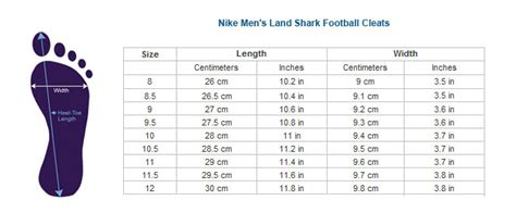 nike football shoes size chart nike shoes chart with model photo playzoa