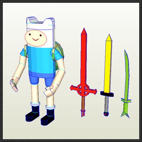 Adventure Time Paper Crafts - adventure time finn the human ver 2 free papercraft