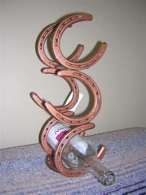 how to make a horseshoe wine rack horseshoe wine rack 3 bottle vertical featured in every