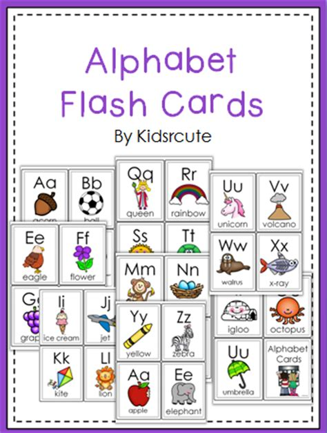 printable flash cards a z creative lesson cafe bloggy blurbs from a z and a freebie