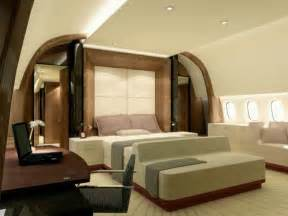 Private Jet With Bedroom Flying House Luxury Airplane Interiors