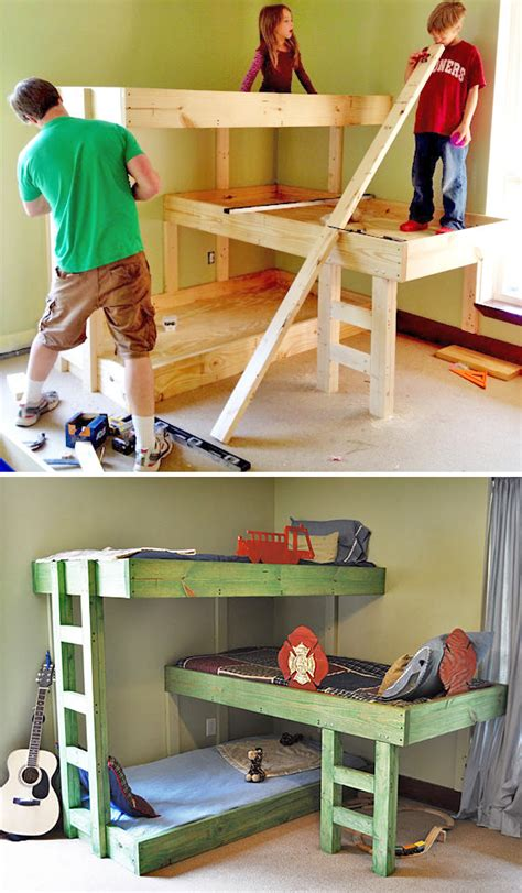 diy kids beds toddler bunk beds do it yourself home projects from ana white kids rooms