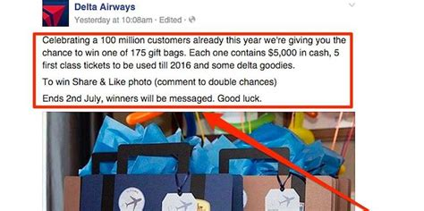 Delta Giveaway - delta airlines fake giveaway went viral on facebook business insider