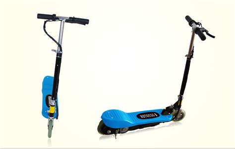 light blue electric scooter maxtra 174 electric motorized ride on scooter bike 24v
