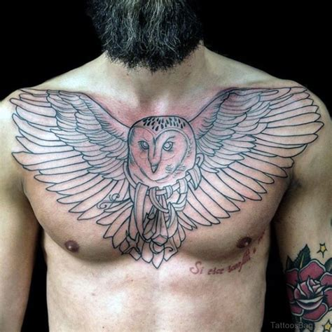 barn owl tattoo designs 50 attractive owl tattoos designs on chest