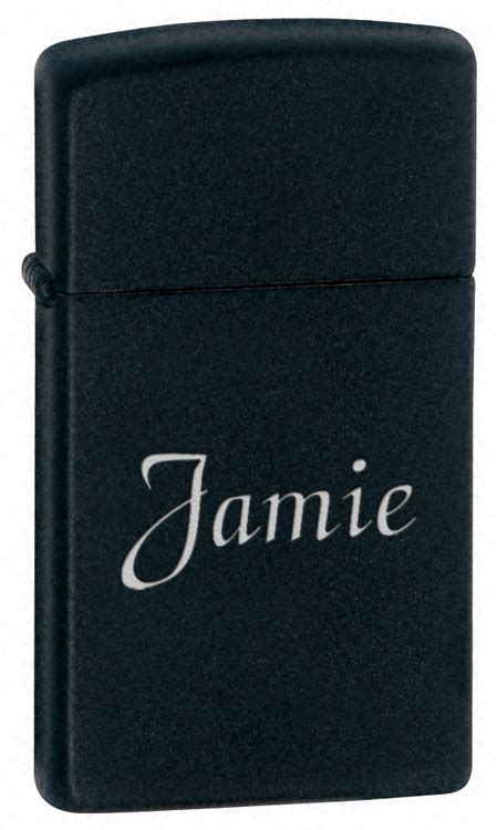 Slim Blackmatte slim black matte zippo lighter executive gift shoppe