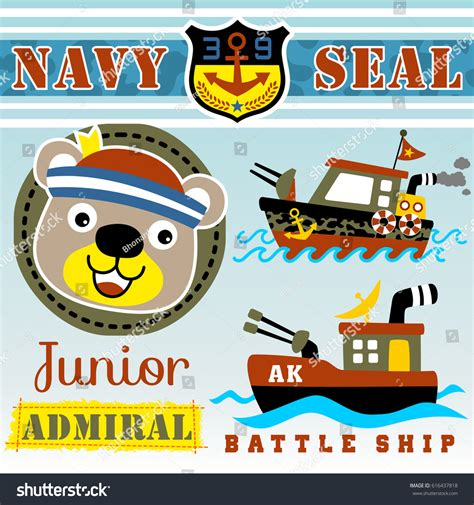 Tshirt Kaos Navy Seal navy seals two warship vector stock vector 616437818