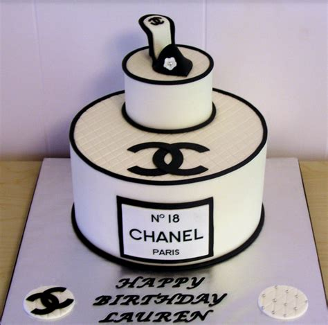 Happy 50th Birthday Chanel Shoes by Chanel Birthday Cake With Chanel Shoe Cake Topper And