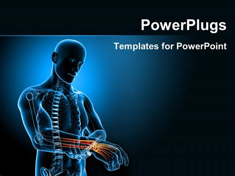 Powerpoint Template Human Anatomy Depicting Pain In Wrist 15385 Anatomy Ppt Templates Free