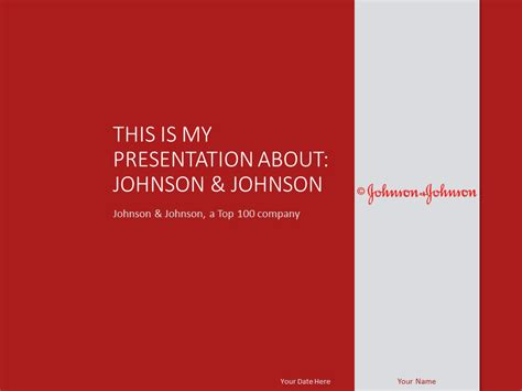 johnson amp johnson powerpoint template presentationgo