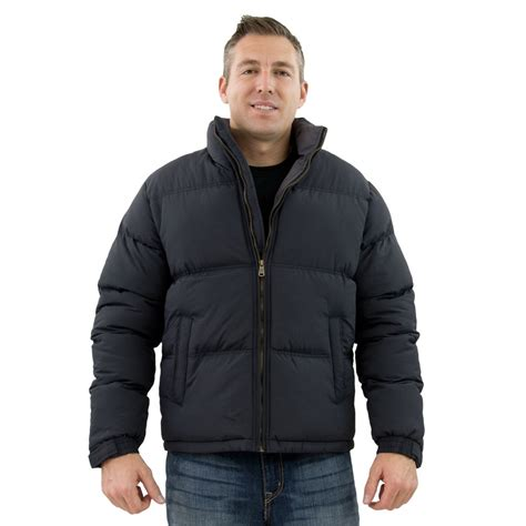 men s tempco men s puffer jacket black grey tm125 6blk cgy
