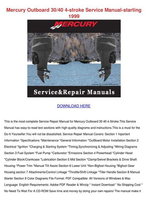 Mercury Outboard 3040 4 Stroke Service Manual By