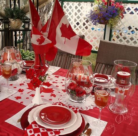 home decor parties canada 50 canada day table decorations centerpieces and summer