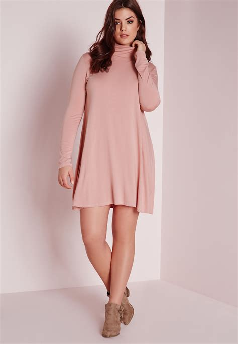 plus swing dress missguided plus size swing dress pink in pink lyst