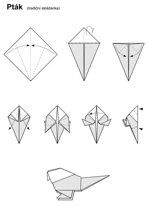 Origami Parrot Diagram - mike s origami origami diagram links birds