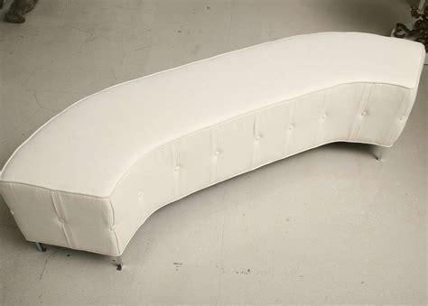 circular bench pair of white tufted semi circular benches at 1stdibs