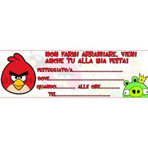 biglietti invito gratis da stampare angry birds