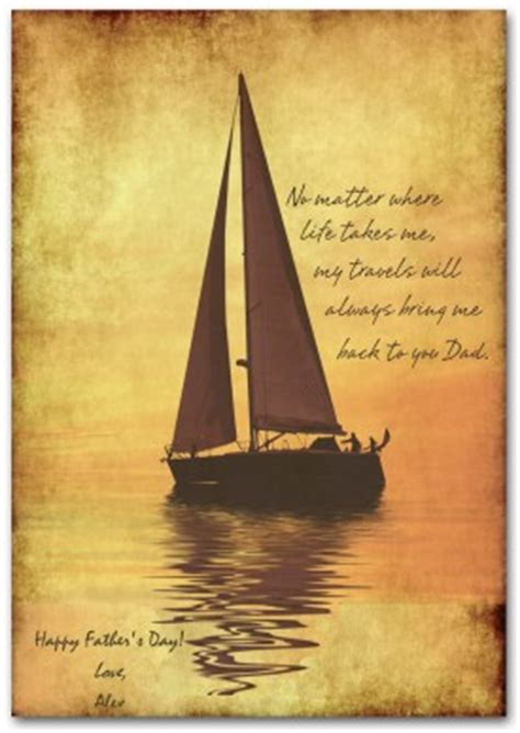 Printable Sailing Fathers Day Card Template