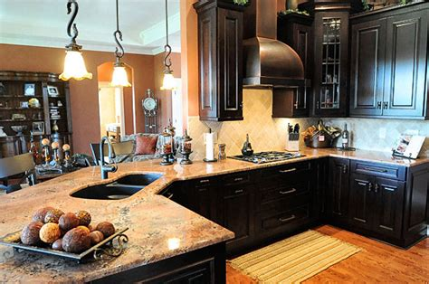 kitchens with dark brown cabinets dark brown kitchen cabinet designs kitchenidease com