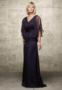 Of the bride 2995 chiffon v neck a line long mother of the bride dress