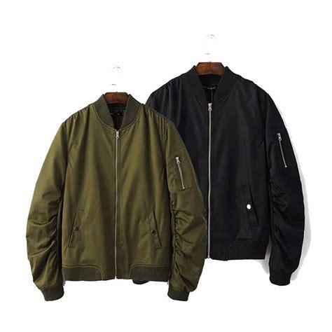 Flight Bomber Jacket Green Army Cewek baseball coats clothing autumn mens solid flight