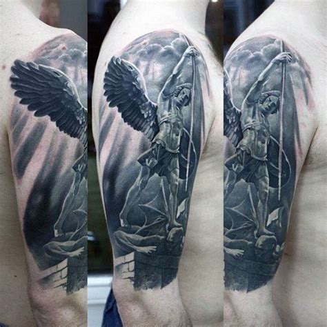 3d angel tattoo 3d guardian angel tattoo mens arms tatoo pinterest