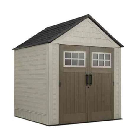 Rubbermaid Storage Shed Hooks by Rubbermaid Big Max 7 Ft X 7 Ft Storage Shed With Free