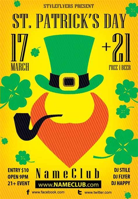 st patrick s day flyers exclsiveflyer free and premium psd