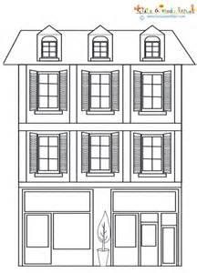 Une Maison De Ville 224 Colorier Coloriage T 234 Te 224 Modeler Coloriages De Maisons A Imprimer Maison Dessin L